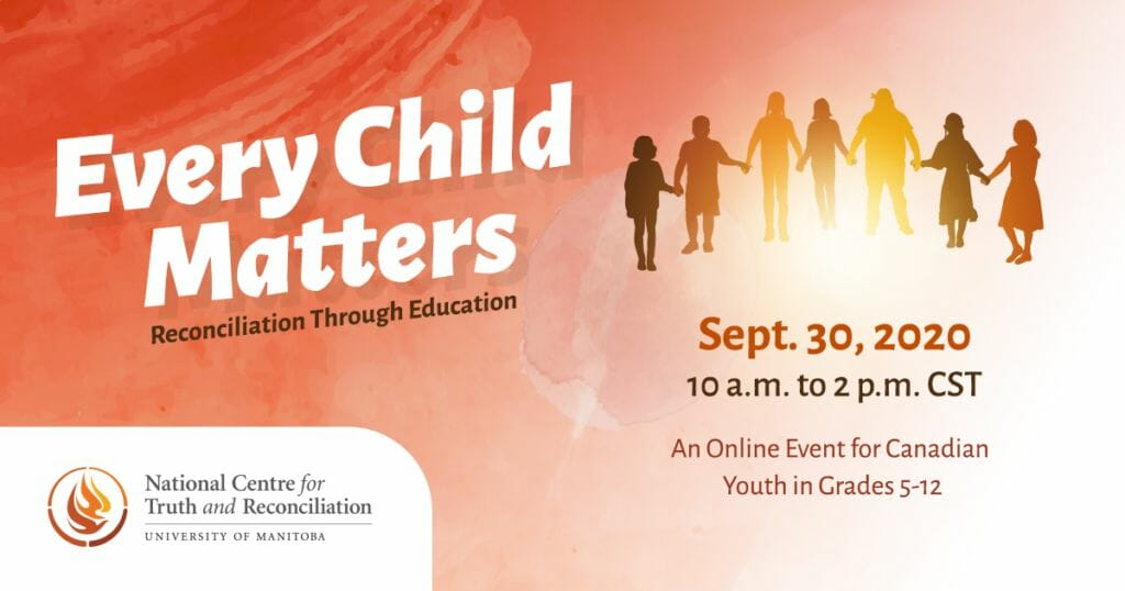 Every Child Matters Sept 30, 2020 event poster.