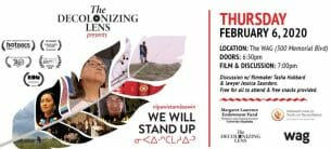 Decolonizing Lens February 6, 2020 event poster.