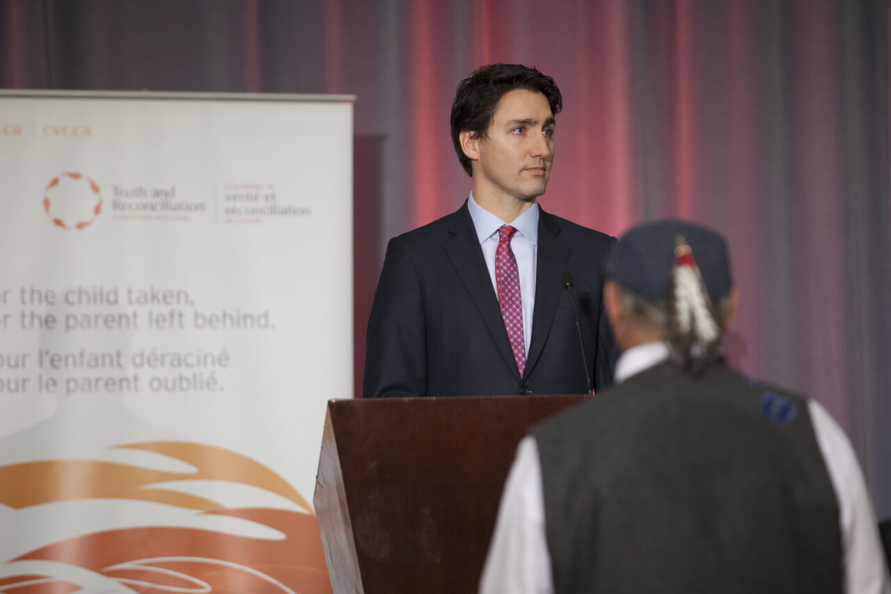 Prime Minister speaking at TRC Closing Ceremony