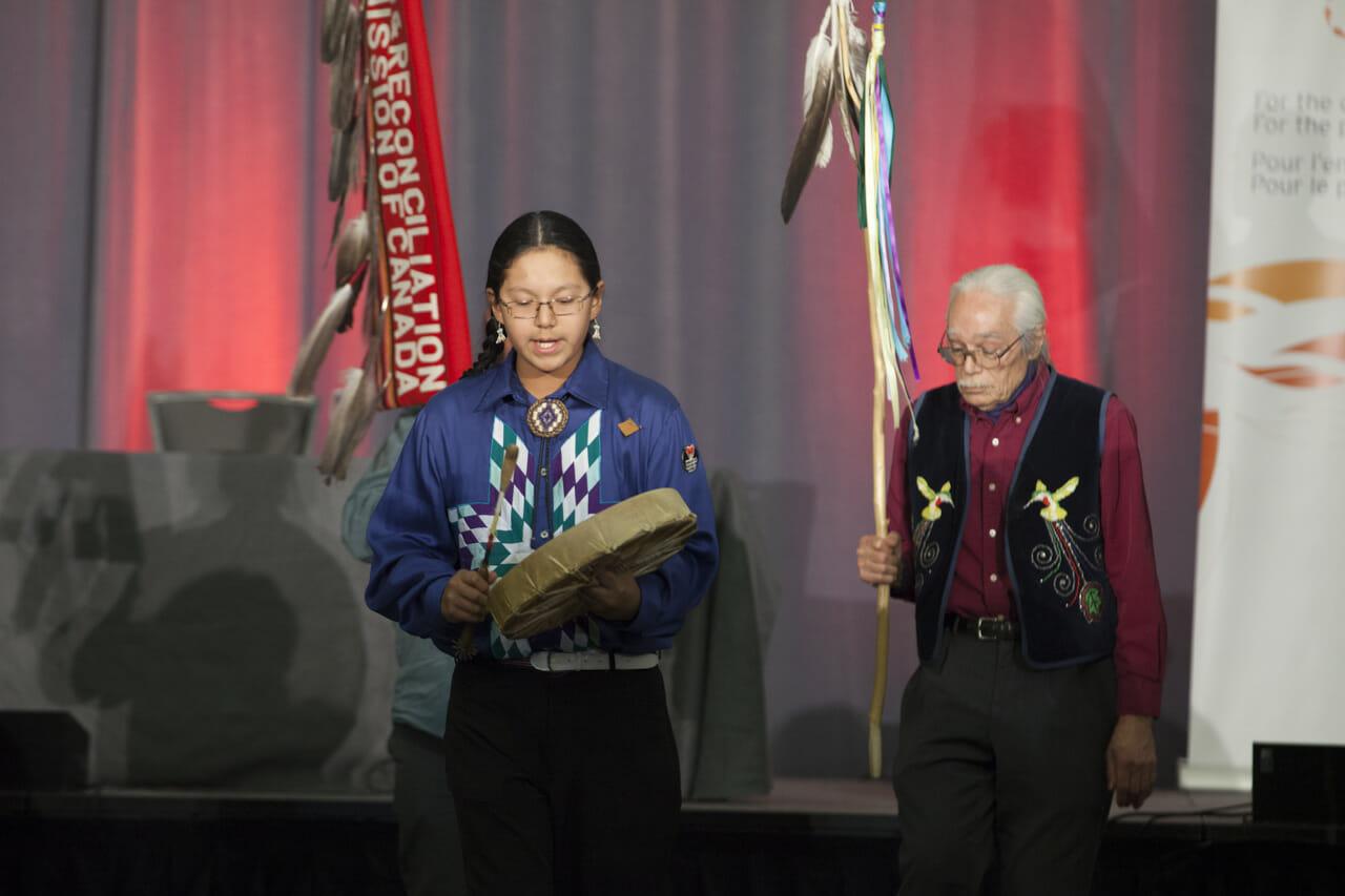 drumming at TRC closing ceremony
