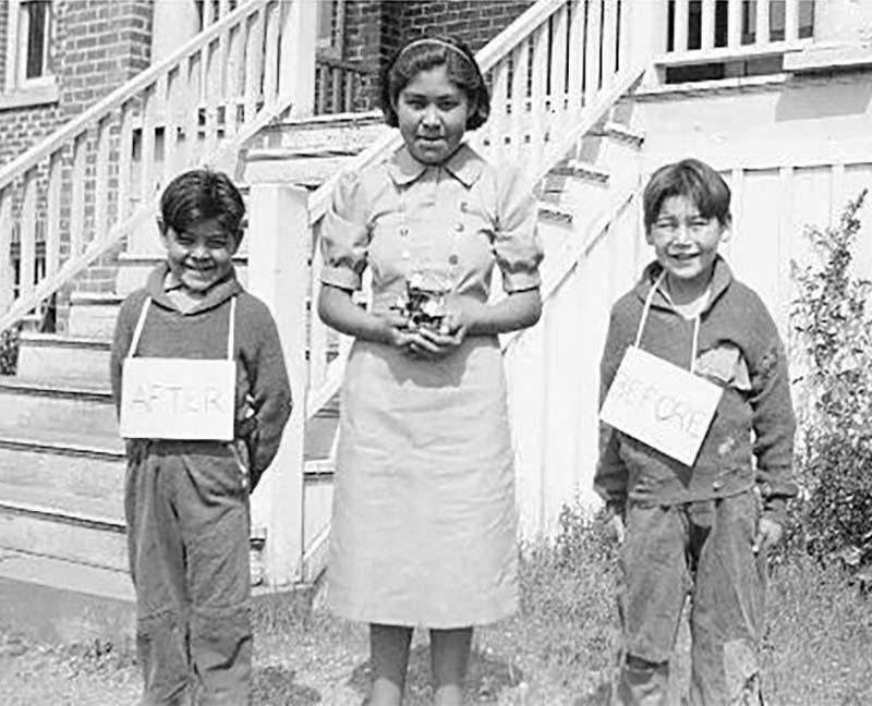 Three students from St. Michaels Alert Bay school