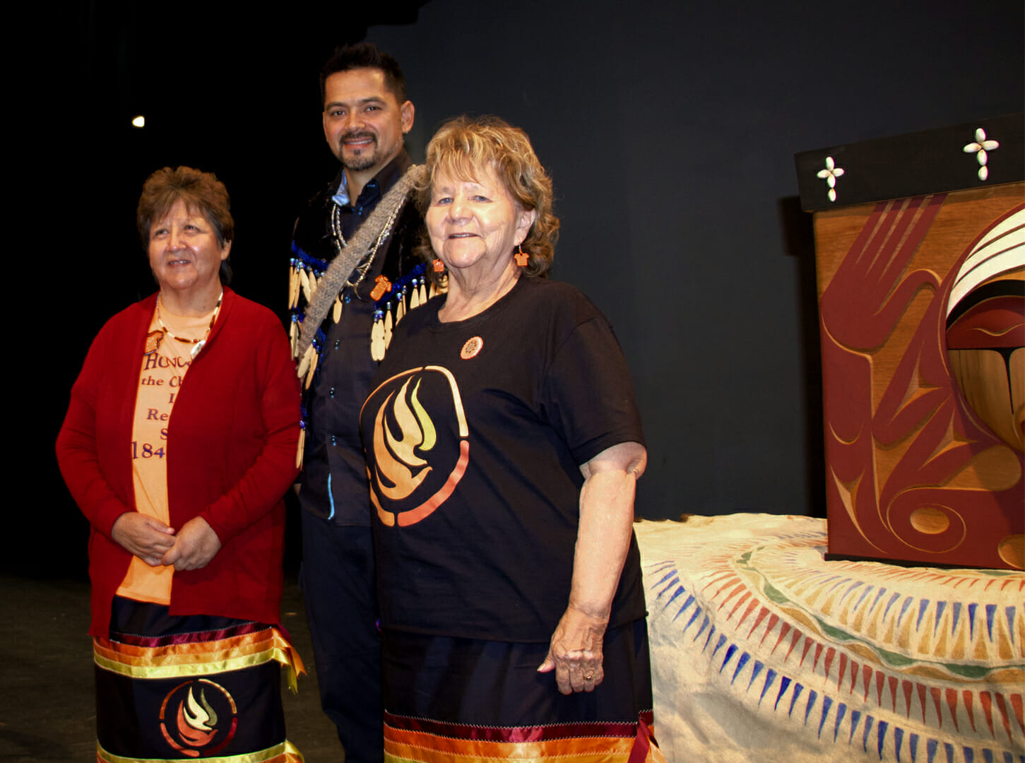 Two women elders at event